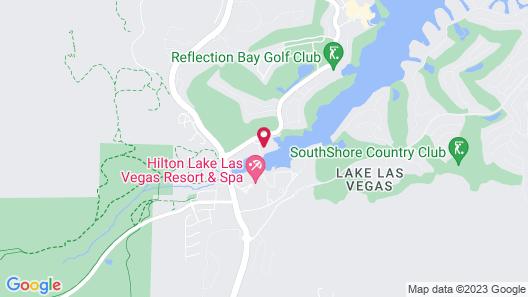 Lake View Studio at Lake Las Vegas With Lake View 30 Minute to Las Vegas Strip Map