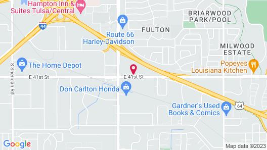 Studio 6 Tulsa, OK Map