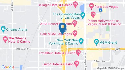 Hilton Garden Inn Las Vegas City Center Map