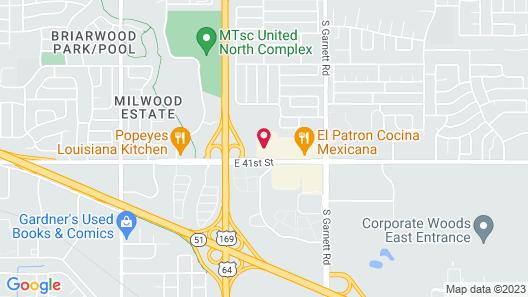 Quality Inn Tulsa Central Map