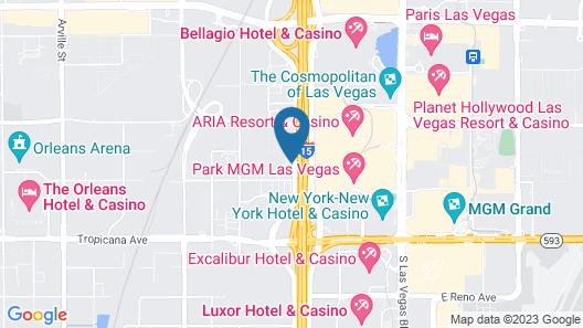 Homewood Suites by Hilton Las Vegas City Center Map