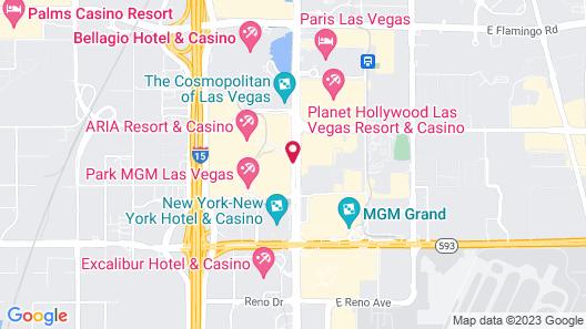 Waldorf Astoria Las Vegas Map