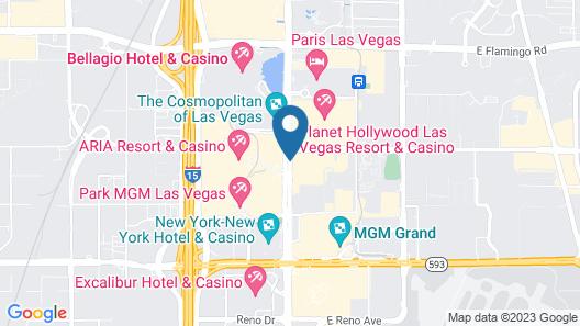 Travelodge by Wyndham Las Vegas Center Strip Map