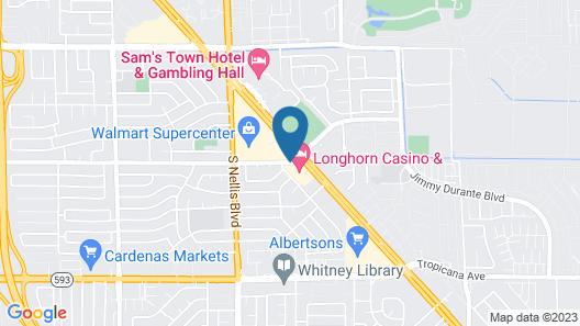 Longhorn Casino & Hotel Map