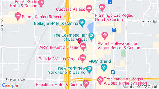 Jet Luxury at the Vdara Condo Hotel Map