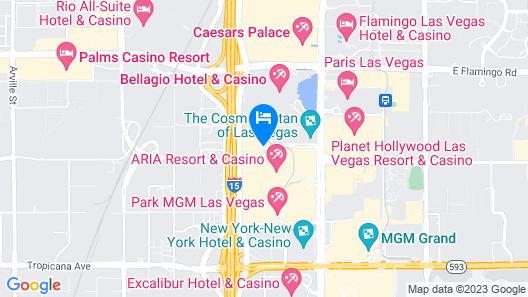 Vdara Hotel & Spa at ARIA Las Vegas Map