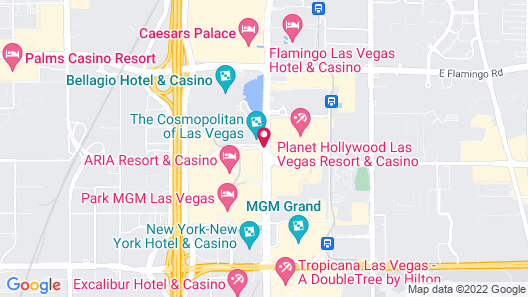The Cosmopolitan Of Las Vegas Map