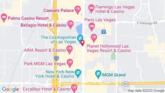 Jockey Resort Suites Center Strip Map