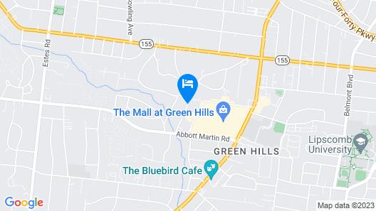 Courtyard by Marriott Nashville Green Hills Map