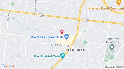 Hilton Nashville Green Hills Map
