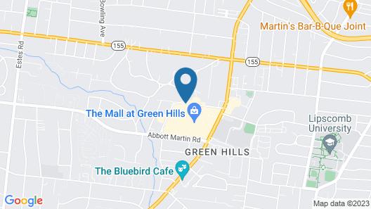 Hampton Inn & Suites Nashville-Green Hills Map