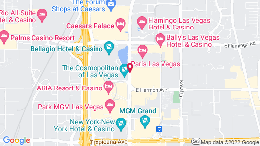 Planet Hollywood Resort & Casino Map