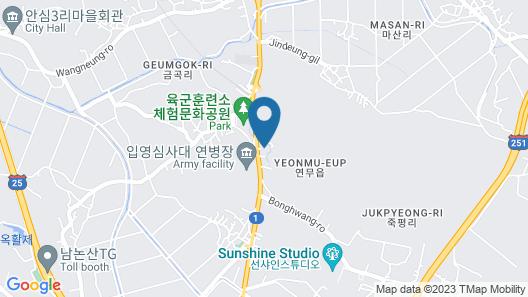 Nonsan Hwangje Motel Map