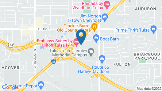 Courtyard by Marriott Tulsa Central Map