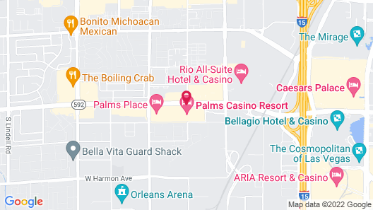Luxury Suites at the Palms Map