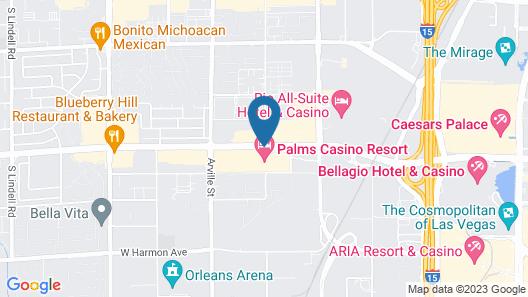 The Palms Casino Resort Map
