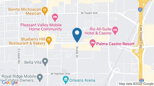 StripViewSuites at Palms Place Map