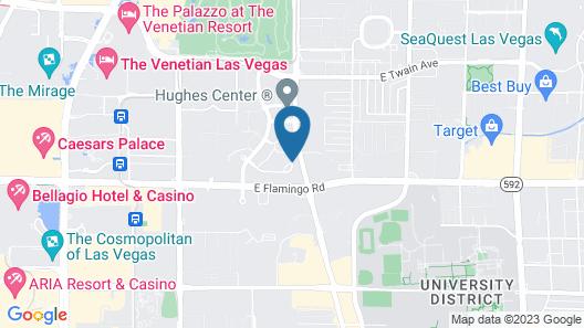Residence Inn by Marriott Las Vegas Hughes Center Map