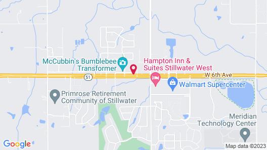 Executive Inn Stillwater Map