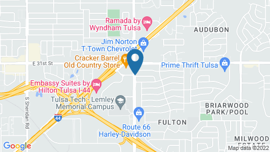 Extended Stay America Suites Tulsa Midtown Map