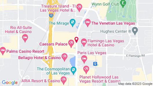 Caesars Suites at Caesars Palace Map