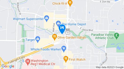 Fairfield Inn & Suites by Marriott Fayetteville Map