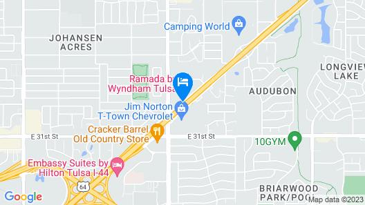 Ramada by Wyndham Tulsa Map