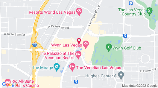 Encore at Wynn Las Vegas Map