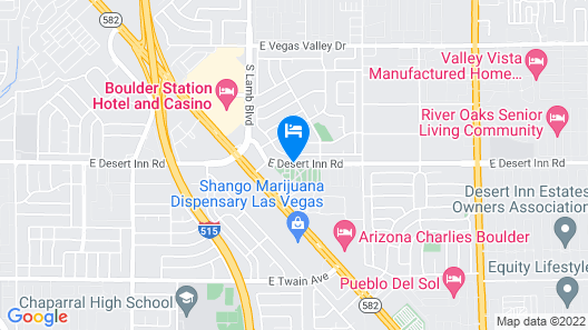 Las Vegas RV Resort Map