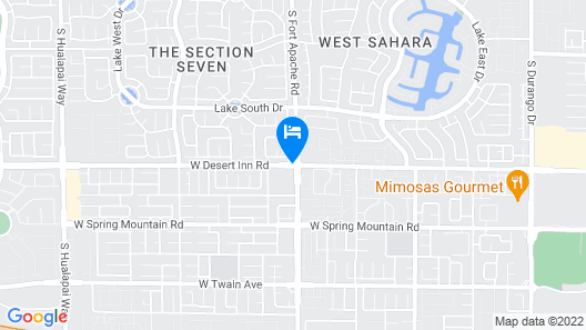 20 Minutes From the Las Vegas Strip Comfy Condo Map