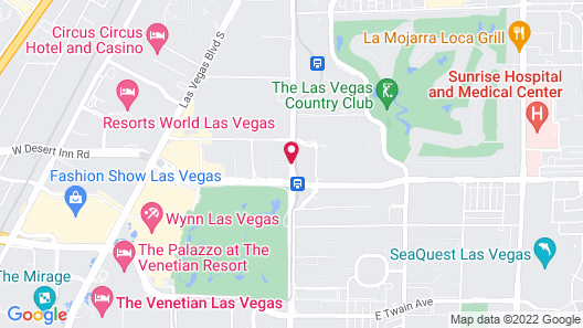 Courtyard by Marriott Las Vegas Convention Center Map