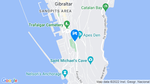 The Rock Hotel Map