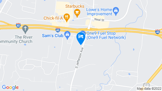 Candlewood Suites Cookeville, an IHG Hotel Map