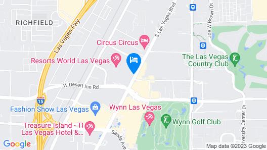 Conrad Las Vegas at Resorts World Map