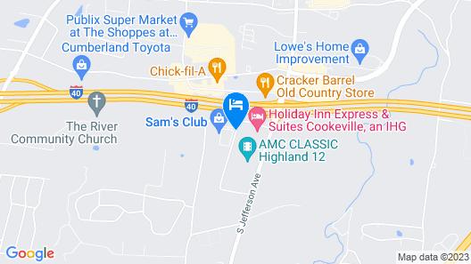 Fairfield Inn & Suites Cookeville Map