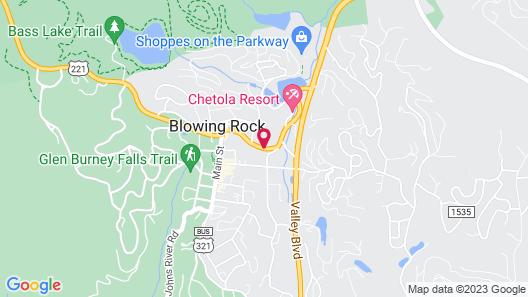 Boxwood Lodge Blowing Rock near Boone-University Map