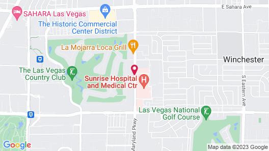 Extended Stay America - Las Vegas - Midtown Map
