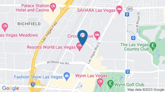 Las Vegas Hilton at Resorts World Map