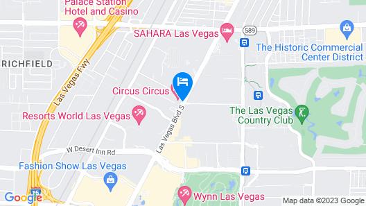 Circus Circus Hotel, Casino & Theme Park Map