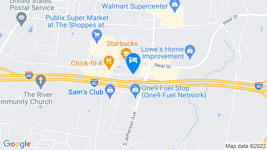 Red Roof Inn Cookeville - Tennessee Tech Map