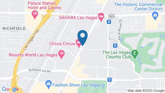Travelodge by Wyndham Las Vegas Map