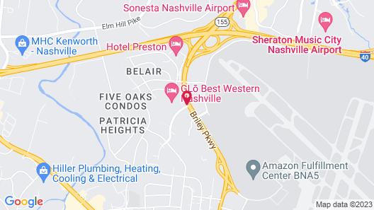 GLō Best Western Nashville Airport West Map