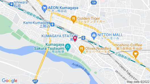 HOTEL SUNROUTE KUMAGAYA STATION Map
