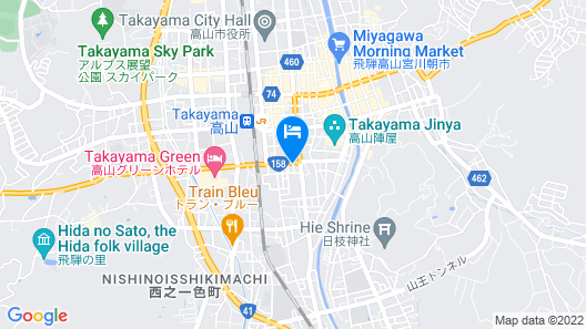 TEMPLE HOTEL TAKAYAMA ZENKOJI Map