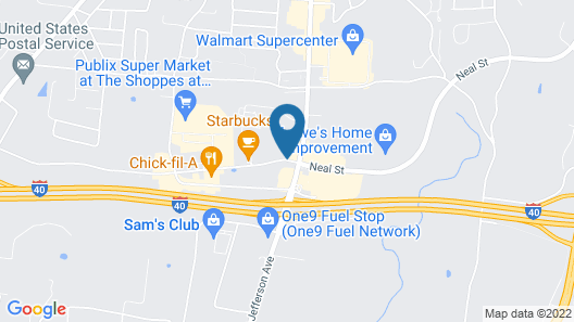 Hampton Inn Cookeville Map