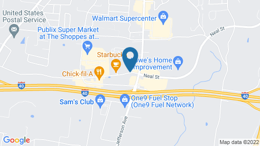 Comfort Inn & Suites Cookeville Map
