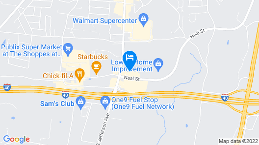 Super 8 by Wyndham Cookeville Map