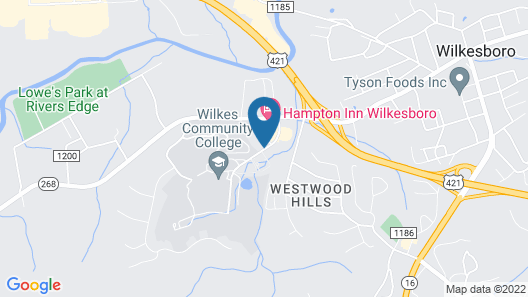 Hampton Inn Wilkesboro Map
