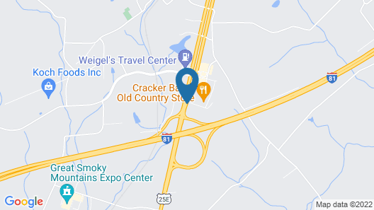 Best Western Plus Morristown Conference Center Hotel Map