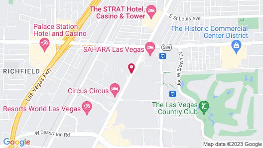 Hilton Grand Vacations on the Las Vegas Strip Map